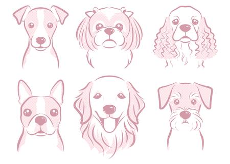 Dog illustration 일러스트