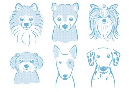 Hond illustratie Stock Illustratie