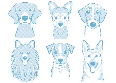 Dog illustration 일러스트