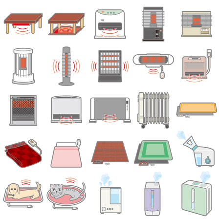Illustration of various electric appliances Иллюстрация