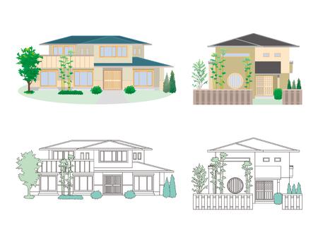 Illustratie van verschillende huizen Stock Illustratie