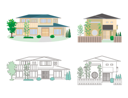 Illustration of different houses Illustration