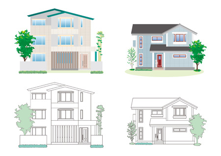 Illustration of the different houses.