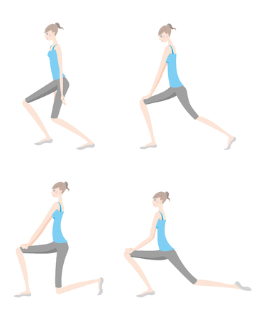 Illustration of a woman exercising yoga Illustration