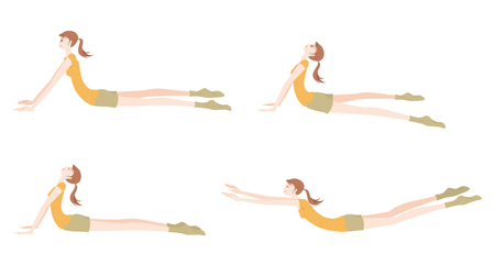 Illustration of a woman exercising yoga Illustration