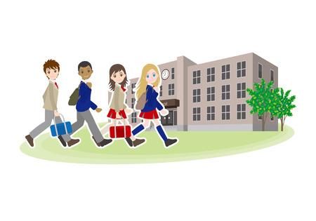 Illustrazione di amici del liceo