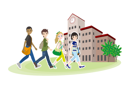 College student's friends illustration