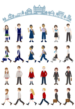 Illustrations of various people  Student