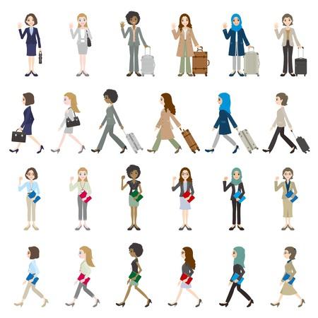 Illustrations of various people Ilustração