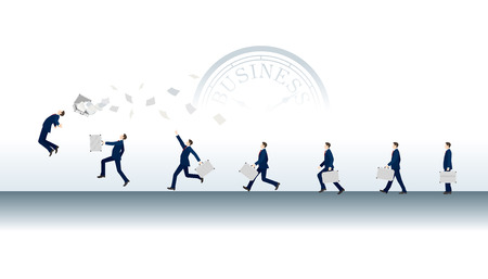 Business man evolution to success concept vector illustration Imagens - 101813257