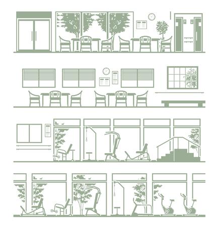 Illustration of welfare facilities Illustration