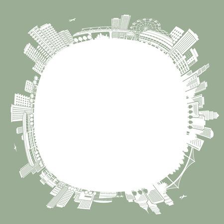 Illustration of the cityscape, Development, Illustration