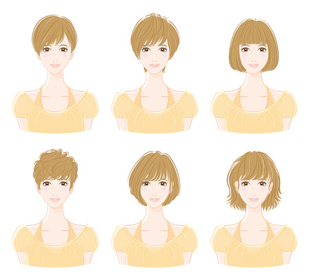 Illustration of the hairstyle Illustration