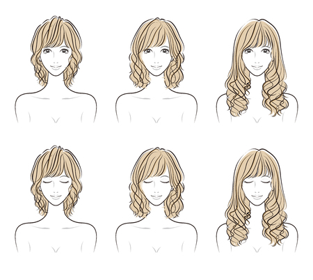 Illustration of the hairstyle Standard-Bild - 107424496