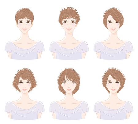 Illustration of the hairstyle Illustration