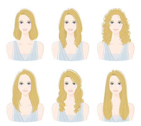 Illustration of the hairstyle Banco de Imagens - 107283077