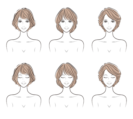 Illustration of the hairstyle