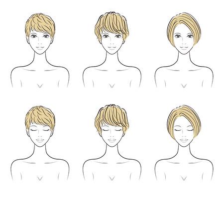 Illustration of the hairstyle Иллюстрация