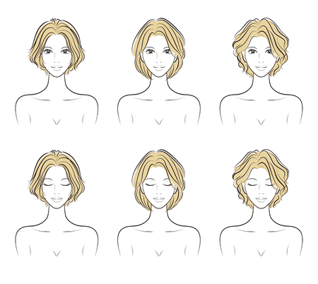 Illustration of the hairstyle 일러스트