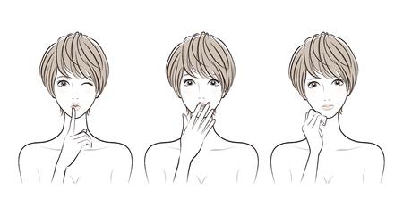 Woman facial expression