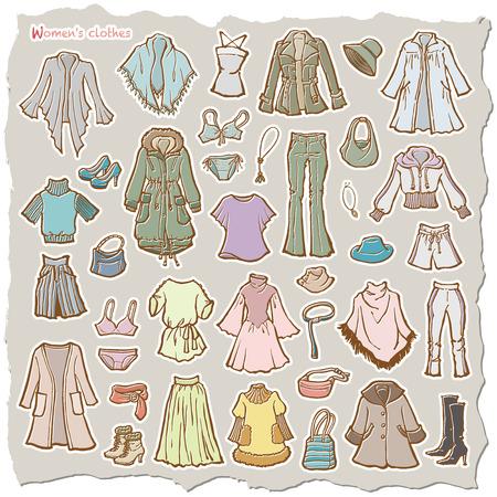 Illustration des vêtements de la femme