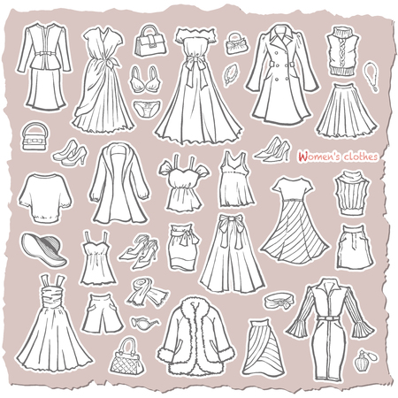 Illustration of the clothes of the woman