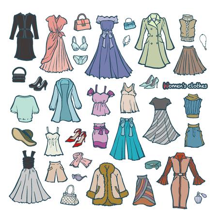 Illustration of the clothes of the woman Vektorgrafik
