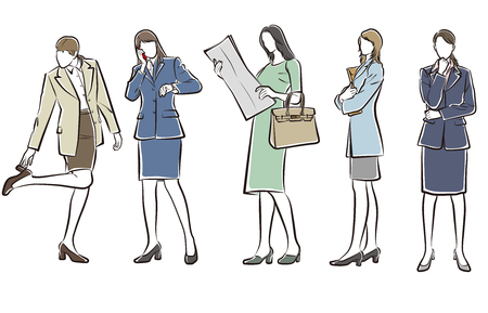 Illustration of the Businesswoman