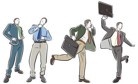 Illustration of the businessman