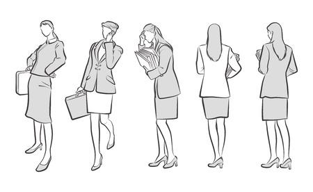 Illustration of the Businesswoman