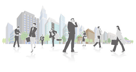 Vector illustration reflecting the image of business