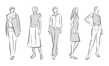 Fashion illustration of the woman  イラスト・ベクター素材