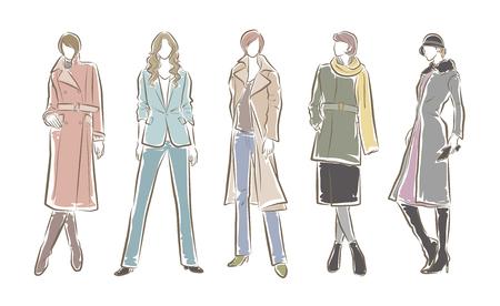 Fashion illustration of the woman Vektorgrafik