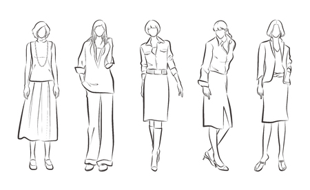 Fashion illustration of the woman
