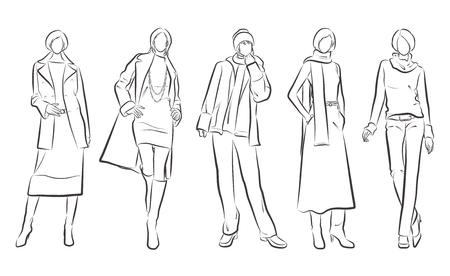 Modeillustration der Frau