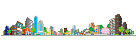 Vektorillustration des Stadtbildes