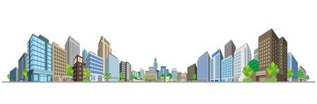 Vector illustration of the cityscape Stock Illustratie