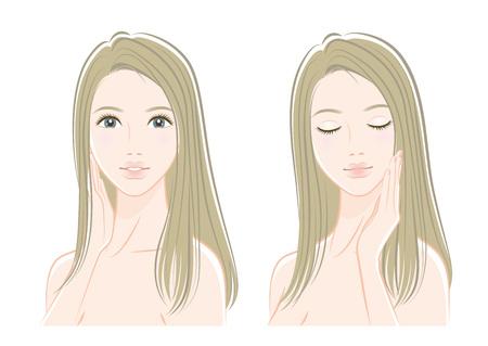 Illustration of a beautiful woman Illustration