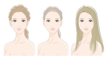 Illustration of a beautiful woman  イラスト・ベクター素材