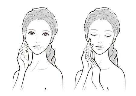 Illustration of a beautiful woman Çizim