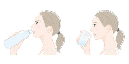 Profile of the woman, heat stroke measures,