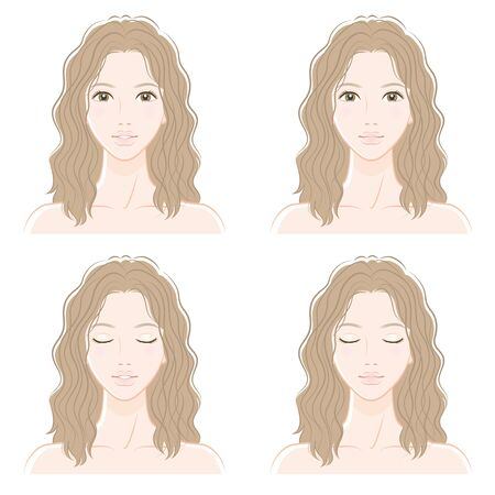 Facial expression of woman