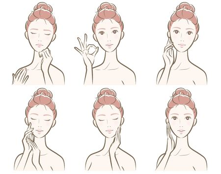 Illustration of a woman's face expression