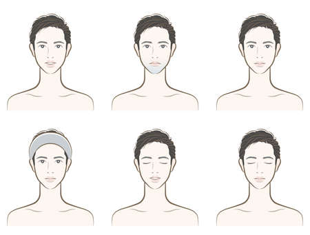 Illustration of a male facial expression