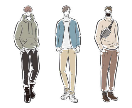 Fashion illustration of the man 矢量图像