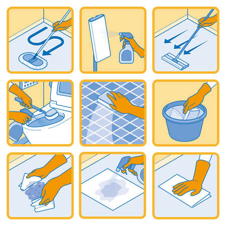 Illustration of the sanitization, virus protection or Infection prevention.