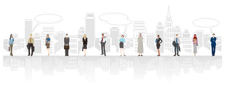 Businessmen and businesswomen who are active in the world.