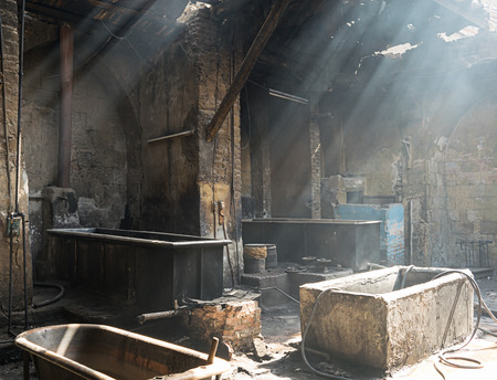 dyeing: Old Textile Dyeing Plant, Cairo, Egypt