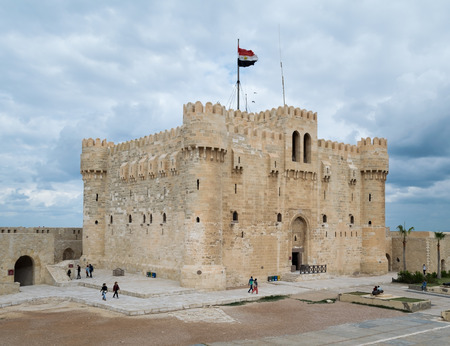 Qaitbay Castle, Alexandria, Egypt. A 15th century defensive fortress located on the Mediterranean sea coast, established in 1477 AD (882 AH)