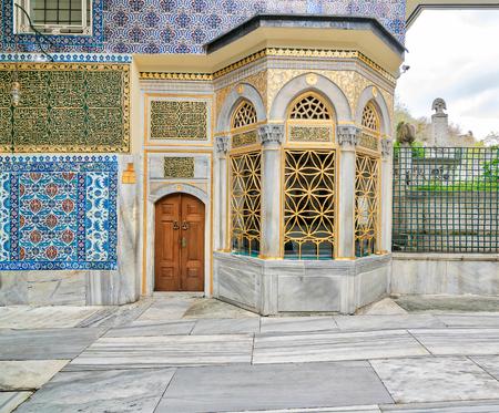 Exterior view of the shrine of Hazrat Abu Ayub Ansari, Eyup Sultan MosqueIstanbul, Turkey Stock Photo